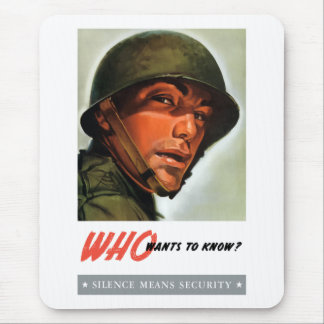 Who wants to know? mouse pad
