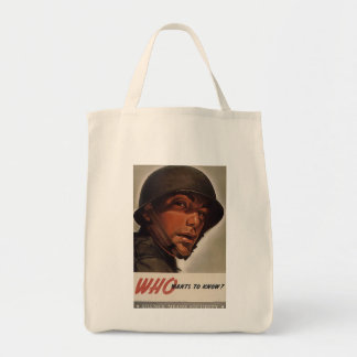 Who Wants To Know Tote Bag