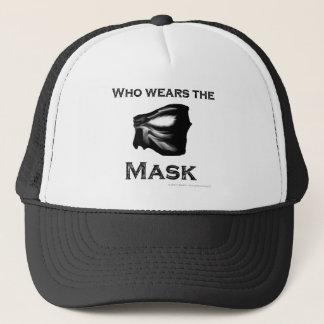 Who wears the Mask Trucker Hat