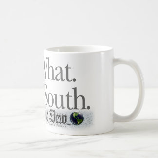 Who. What. When. South. Classic White Coffee Mug