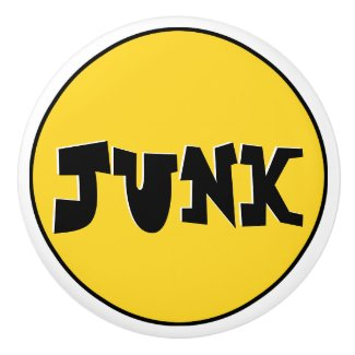 Who What Where - Junk Drawer Knob (Yellow) Ceramic Knob