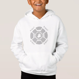 WHO WHITE PULLOVER HOODIE