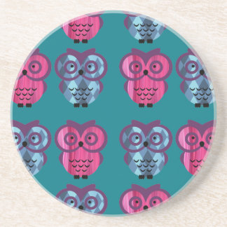 Who, who, who loves owls? drink coaster