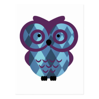 Who, who, who loves owls? postcard