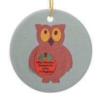 Who Whoos Grandma's Little Pumpkin Ceramic Ornament