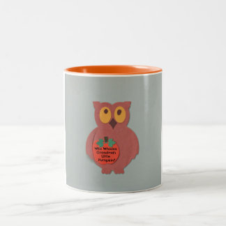 Who Whoos Grandma's Little Pumpkin Two-Tone Coffee Mug