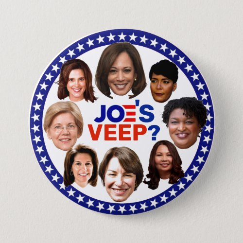 Who will be Joes Veep Button