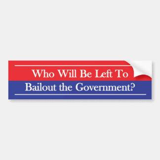 Who Will Be Left Bumper Sticker