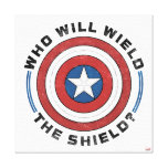 Who Will Wield The Shield Badge Canvas Print