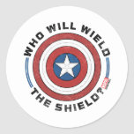 Who Will Wield The Shield Badge Classic Round Sticker