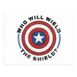 Who Will Wield The Shield Badge Postcard
