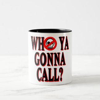 Who ya gonna call? Two-Tone coffee mug