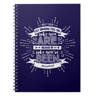 Who You Are Blue Notebook