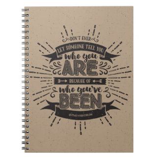 Who You Are Tan Notebook