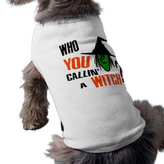 Who YOU Callin' A Witch? With Green Witch & Hat T-Shirt