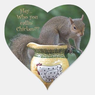 Who You Callin' Chicken Heart Sticker