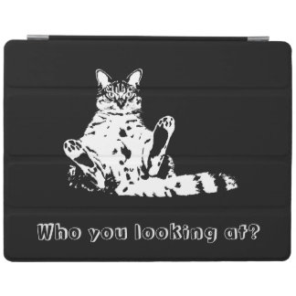Who You Looking At? Funny Grumpy Cat. iPad Smart Cover