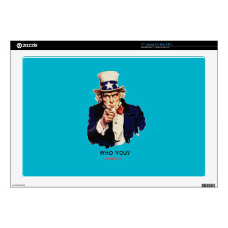 WHO_YOU_Uncle_Sam Laptop Skin