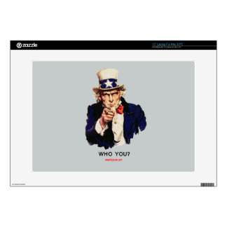 """WHO_YOU_Uncle_Sam Skin For 15"""" Laptop"""