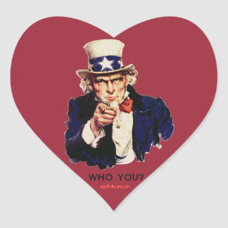 WHO_YOU_Uncle_Sam Heart Sticker