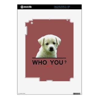Who_You_White_Puppy iPad 2 Skin