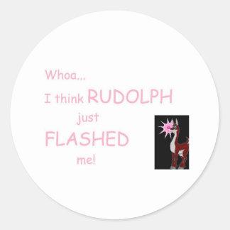 Whoa...I think Flashed Me! Classic Round Sticker