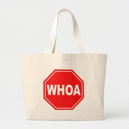 whoa large tote bag