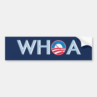 WHOA Obama Etiqueta De Parachoque