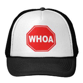 whoa trucker hat