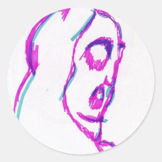 WhoamI Classic Round Sticker