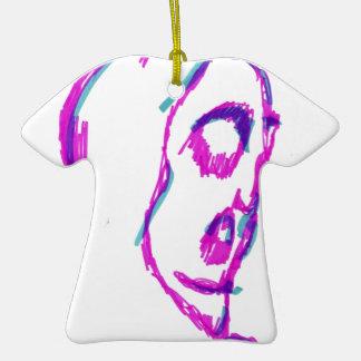 WhoamI Adorno De Cerámica En Forma De Camiseta