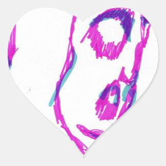 WhoamI Heart Sticker