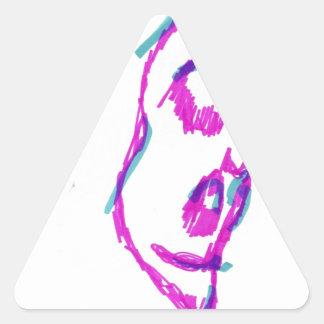 WhoamI Pegatina Triangular