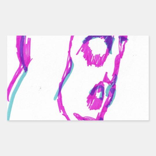 WhoamI Rectangular Sticker