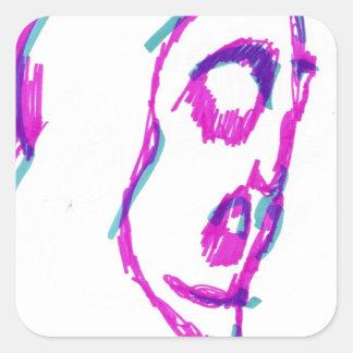 WhoamI Square Sticker