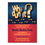 ¿Whodunit? Invitación del fiesta del misterioso