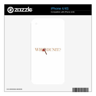 Whodunit? Skin For The iPhone 4