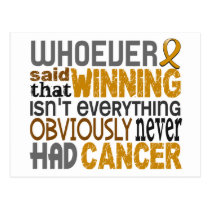 Whoever Said Appendix Cancer Postcard
