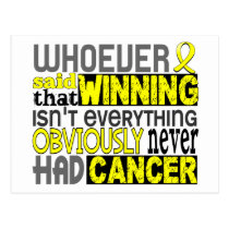 Whoever Said Bladder Cancer Postcard