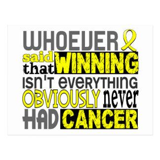 Whoever Said Bladder Cancer Postcard