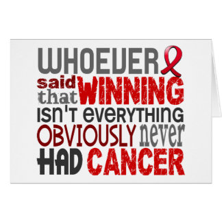 Whoever Said Blood Cancer Cards