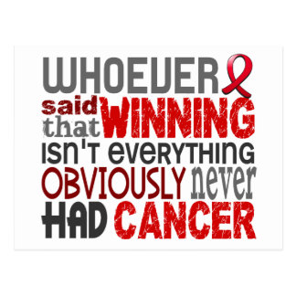 Whoever Said Blood Cancer Postcard