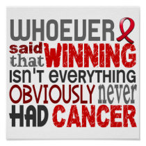 Whoever Said Blood Cancer Poster