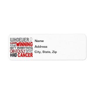 Whoever Said Bone Cancer Return Address Label