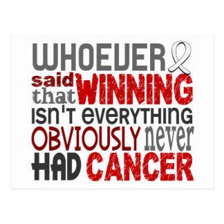 Whoever Said Bone Cancer Postcard