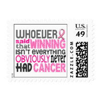 Whoever Said Breast Cancer Postage