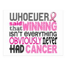 Whoever Said Breast Cancer Postcard