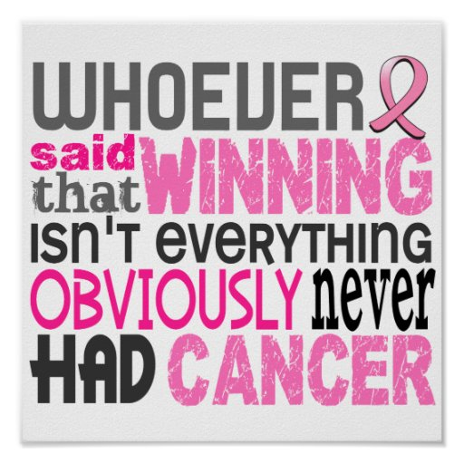 Whoever Said Breast Cancer Print