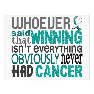 Whoever Said Cervical Cancer Flyer