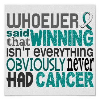 Whoever Said Cervical Cancer Posters